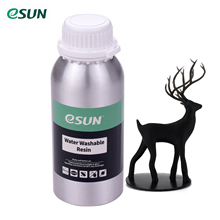 ESUN 76D УФ смола для ЖК 3d принтера вода моющаяся Резина алюминиевая бутылка жидкостный печатный материал для Anycubic Nova Sparkmaker