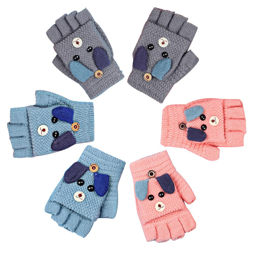 Kids Winter Knitted Gloves Warm Full Finger Rope Mittens For Toddlers Baby Wears