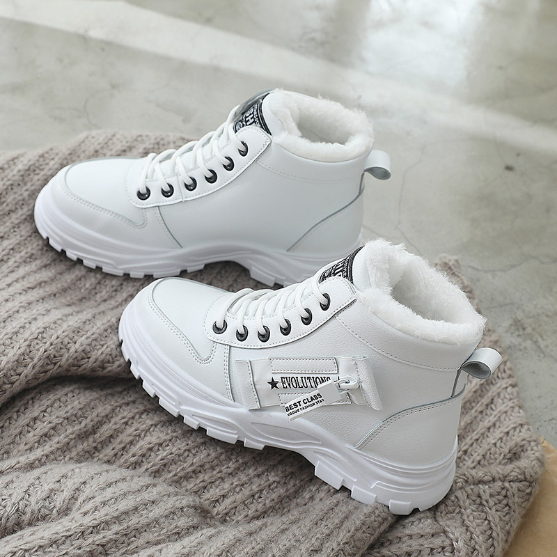 2020 Boots For Women Flat Platform Boots Women Shoes Chunky Motorcycle Flat Ankle Boots Winter Shoes Female R11-74