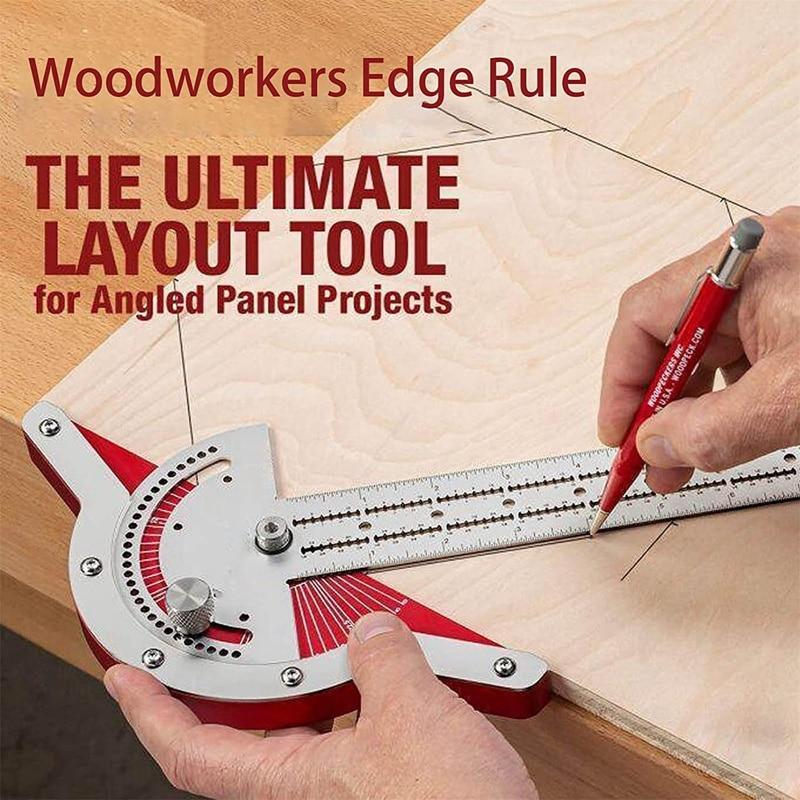 buraco carpintaria scribing regra ângulo medida carpintaria ferramenta