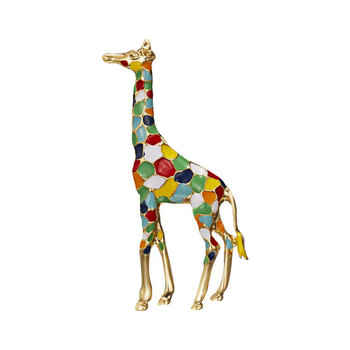 Lovely Cartoon Giraffe Brooches Women Cute Animal Brooch Pin Fashion Jewelry Gift Kids Exquisite Broches