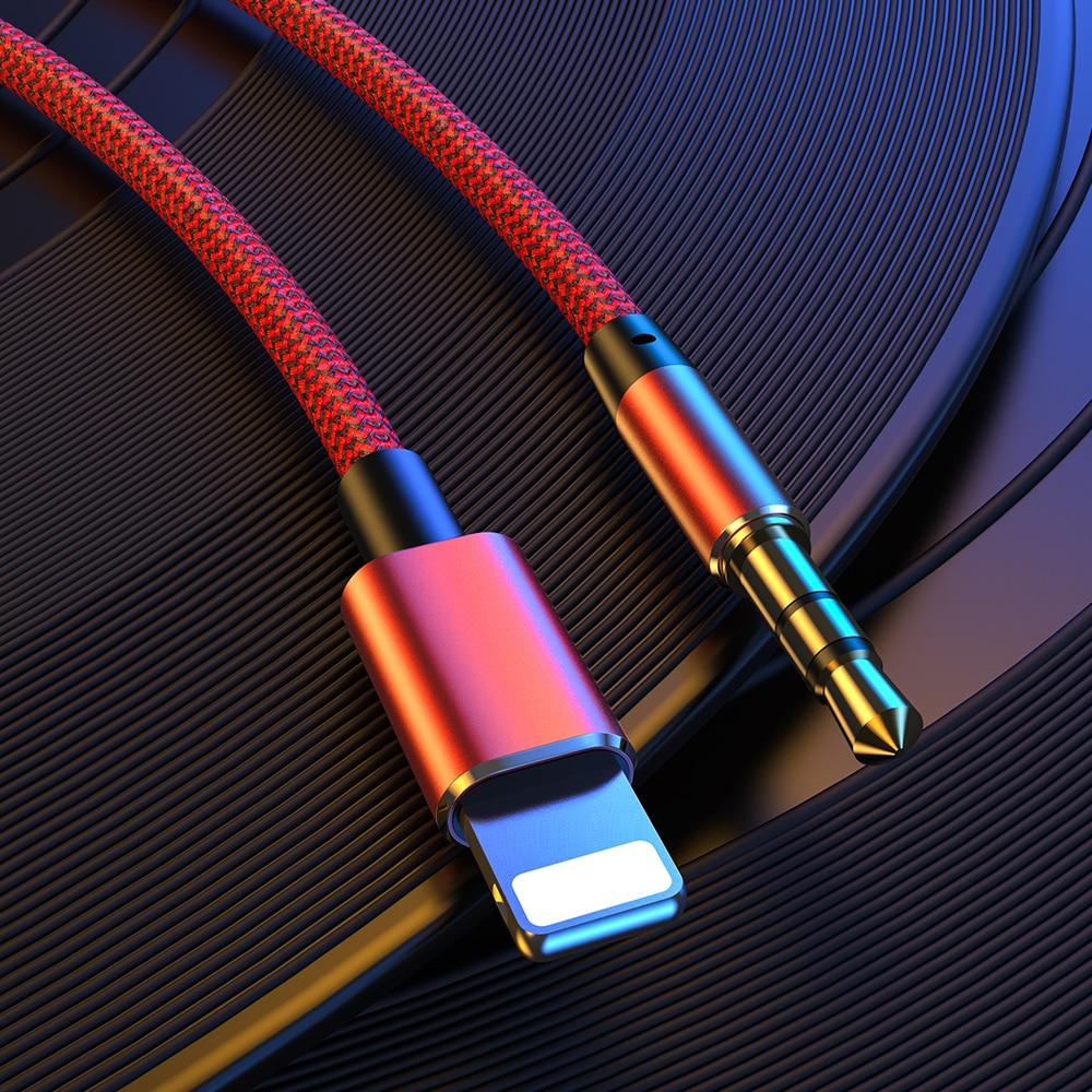 Для Lightning до 3,5 мм Aux кабель Jack Мужской кабель автомобильный конвертер наушников аудио адаптер для iPhone 11 12 Pro XS Max X XR 8 7 iPad