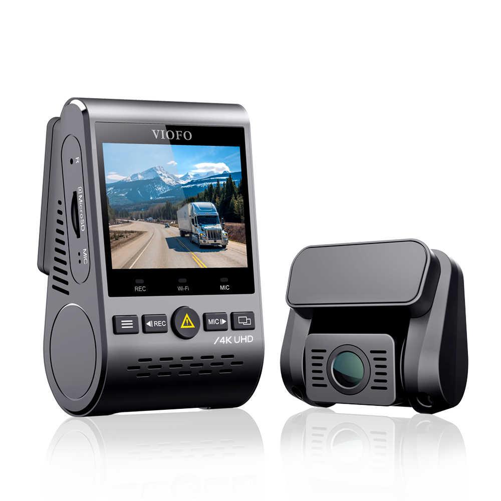 4K DVR Dual Dash Cam Viofo A129 Pro Duo 3840*2160P Ultra HD 4K Depan Belakang dash Kamera Sony 8MP Sensor GPS Wi-fi Mobil Cam G-Sensor