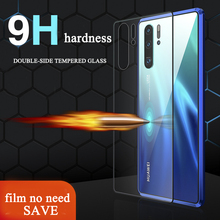GKK Tempered Gradient Glass Case For Huawei P30 Pro Flip Phone Cases Magnetic Auto AdsorptionFor Coque
