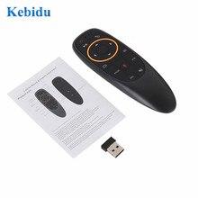 KEBIDU G10S Gyro Sensing Fly Air Mouse Con La Voce di Controllo 2.4GHz Microfono Senza Fili di Telecomando Per Smart TV, android Box PC
