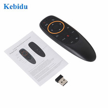 KEBIDU G10S Gyro Sensing Fly Air Mouse con Control por voz 2,4 GHz MICRÓFONO INALÁMBRICO Control remoto para Smart TV,Android Box PC