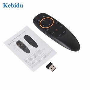 Image 1 - KEBIDU G10S Gyro détection mouche Air souris avec commande vocale 2.4GHz sans fil Microphone télécommande pour Smart TV, Android Box PC