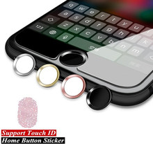 Aluminium Touch ID Home Button Aufkleber Für iPhone 8 7 7s 6 6s Plus 5s Support Fingerprint identifikation Entsperren Touch Key(China)