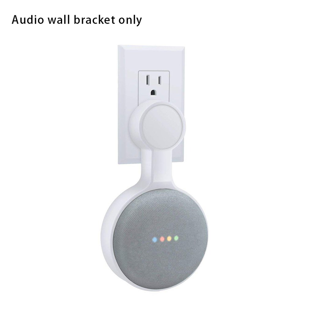 Outlet Wall Mount Holder For Google Home Mini Space-Saving Smart Home Speakers With Cord Arrangement Hidden Messy Wires