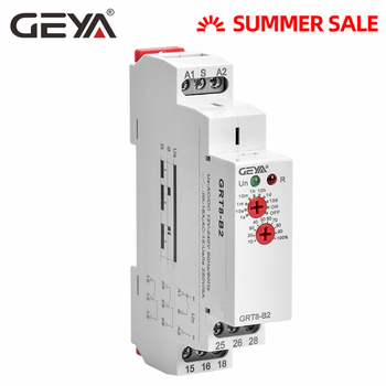 цена на GEYA GRT8-B Din Rail Off Delay Timer Relay 12V Time Delay Relays with CE CB certificate AC230V OR AC/DC12V-240V