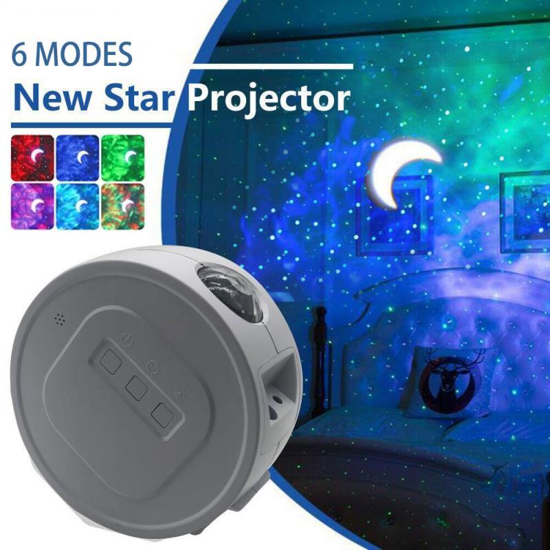 Wifi LED Light Galaxy Night Lights Projector Star Sky Light Ocean Wave Lamp