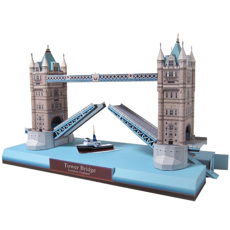 The United Kingdom Tai Wu Shi Qiao Shuang Zi Qiao Architecture Model Paper Model Handmade DIY Handmade Homework
