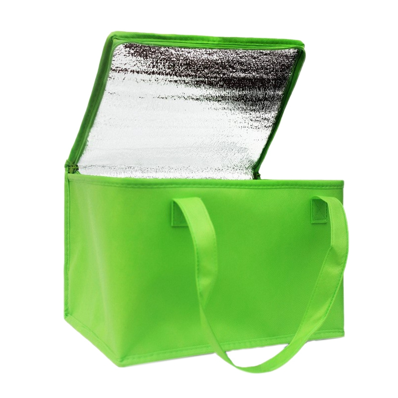 Foldable Large Cooler Bag Portable Food Cake Insulated Bag Aluminum Foil Thermal Box Waterproof <font><b>Ice</b></font> <font><b>Pack</b></font> <font><b>Lunch</b></font> Box Delivery Bag image