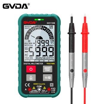 GVDA-multímetro Digital Ture RMS de rango automático, 6000 recuentos, NCV, multímetro inteligente,...