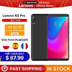 Перейти на Алиэкспресс и купить original global version lenovo k5 pro 4gb ram 64gb snapdragon 636 octa core four cameras 5.99 inch 4g lte smartphone