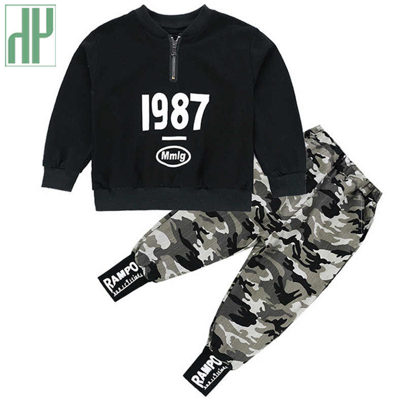 Anak Pakaian untuk Anak Laki-laki Kostum Huruf Pakaian Latihan Yg Hangat Kamuflase Atasan Celana Balita Laki-laki Musim Dingin Pakaian Set Pakaian Latihan Yg Hangat 3 8 Tahun