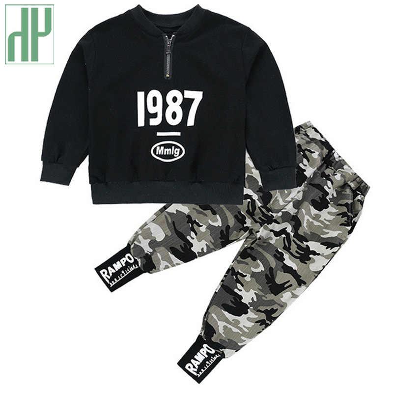 Kinderen kleding voor jongens Kostuum Brief Trainingspak Camouflage Tops Broek peuter Boy Winter Outfits Set Trainingspak 3 8 12 Jaar