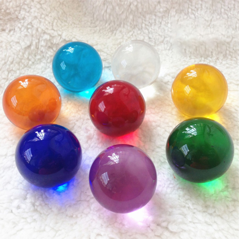 Multicolor Quartz Glass Ball Globe Home Decoration Feng Shui Crafts Photography Balls Magic Desktop Home Decor Ornaments