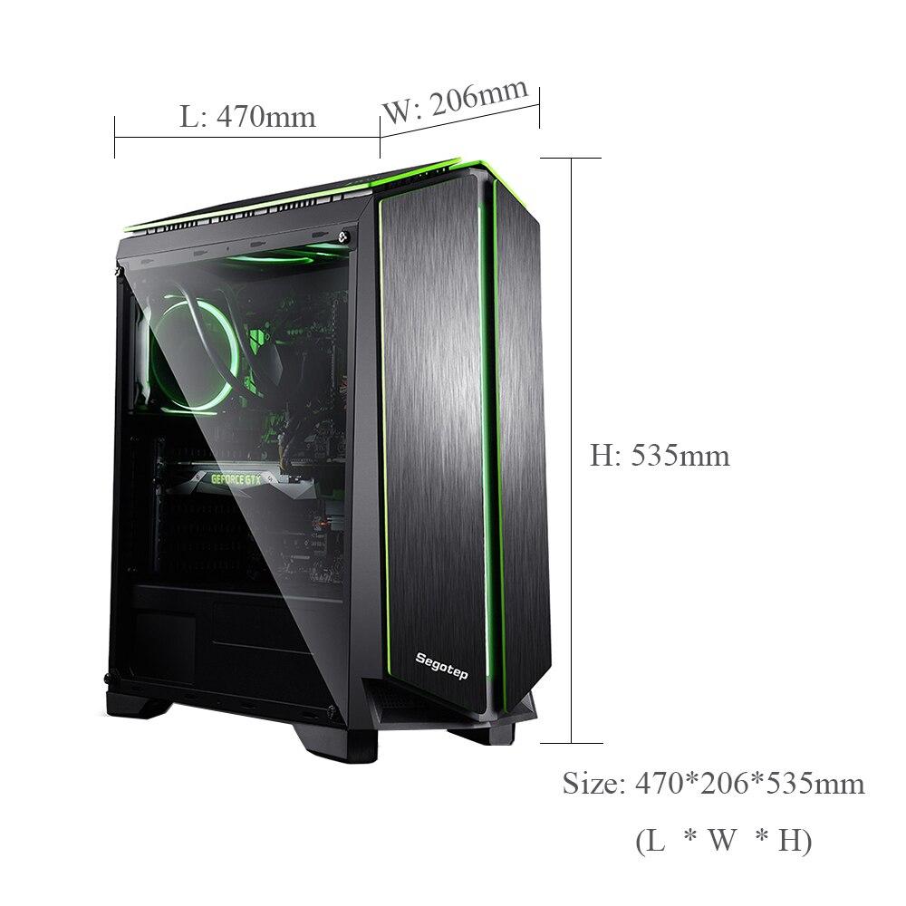 DIY Computer E-ATX Gaming Case Support ATX/ M-ATX/ Mini-ITX With RGB LED Light Strip 7 PCI Slot SPCC 0.6mm Desktop Cases 2
