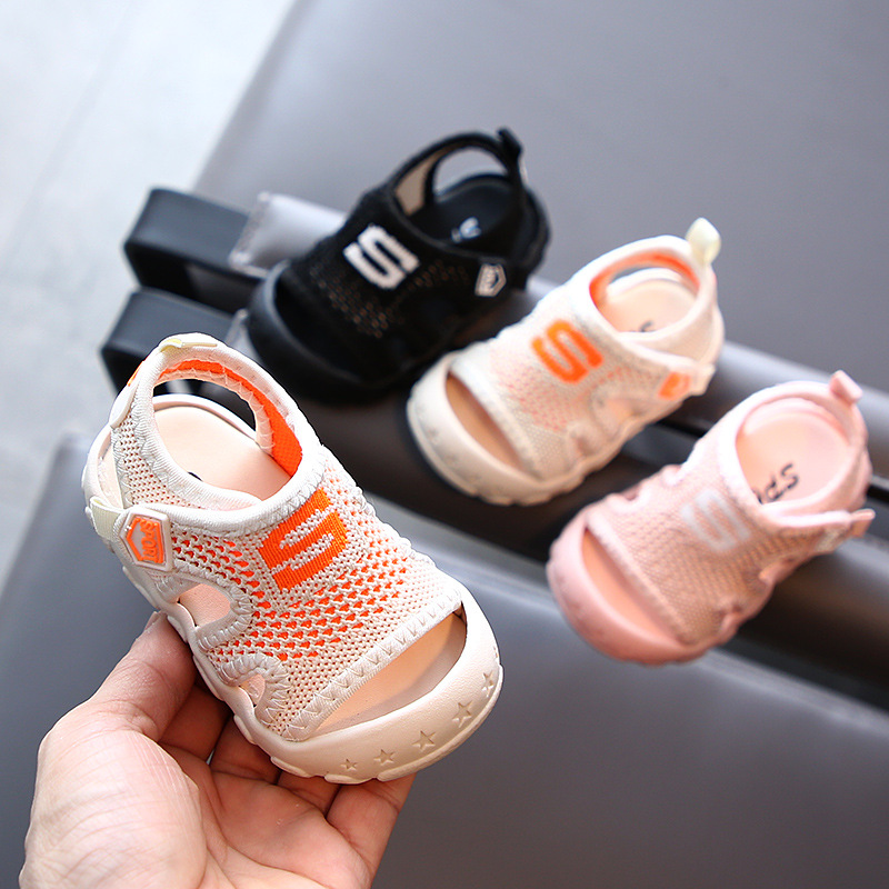 Summer Children's Leisure Mesh Sandals Baby Soft Bottom Breathable Beach Shoes Toddler Shoes Children's Shoes