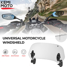 Motorcycle Universal windshield Clamp-On Variable Windscreen Spoiler Extension For R 1200GS F800GS For Tmax For BMW For Yamaha