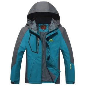 Plus Size 9XL Outdoors Jacket Men Fleece Warm Outwear Windproof Waterproof Jackets Chaquetas Male Military Travel Hiking Clothes