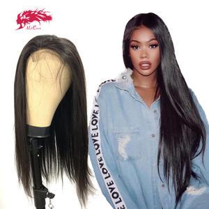 Wig Lace-Frontal Transparent Straight Brazilian HD Free-Part Virgin 5x5/13x4