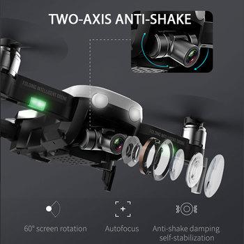 F8 Drone Mit 4K HD Kamera Zwei-Achsen Anti-Schütteln Selbst-Stabilisierung Gimbal GPS WiFi FPV RC Hubschrauber Quadrocopter Spielzeug CSJ X1