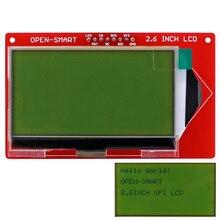 Открытый Смарт 3,3 В 2,6 дюйма 128*64 серийный SPI Монохромный ЖК-модуль коммутационной платы с подсветкой для Arduino UNO Nano