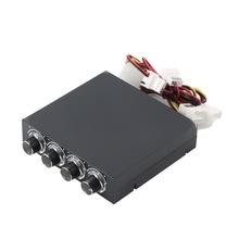 3 5 cal obudowa PC PC HDD CPU 4-kanał regulator prędkości wiatraka z niebieską diodą LED wentylator kontroli chłodzenie przedni Panel tanie tanio CN (pochodzenie) Other Z tworzywa sztucznego Pokrętło przełącznika