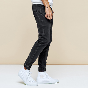 Image 3 - KUEGOU 2019 Autumn Cotton Black Skinny Jeans Men Streetwear Brand Slim Fit Denim Pants Male Biker Classic Stretch Trousers 2979