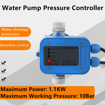 Professional Automatic Water Pump Pressure Controller Electronic Switch Portable Auto Pressure Control Switch 10A 1.1KW 1Mpa 10B automatic lcd digital water pump pressure control switch eletronic pressure controller for water pump 220v 10a ip466 g1 2 page 6
