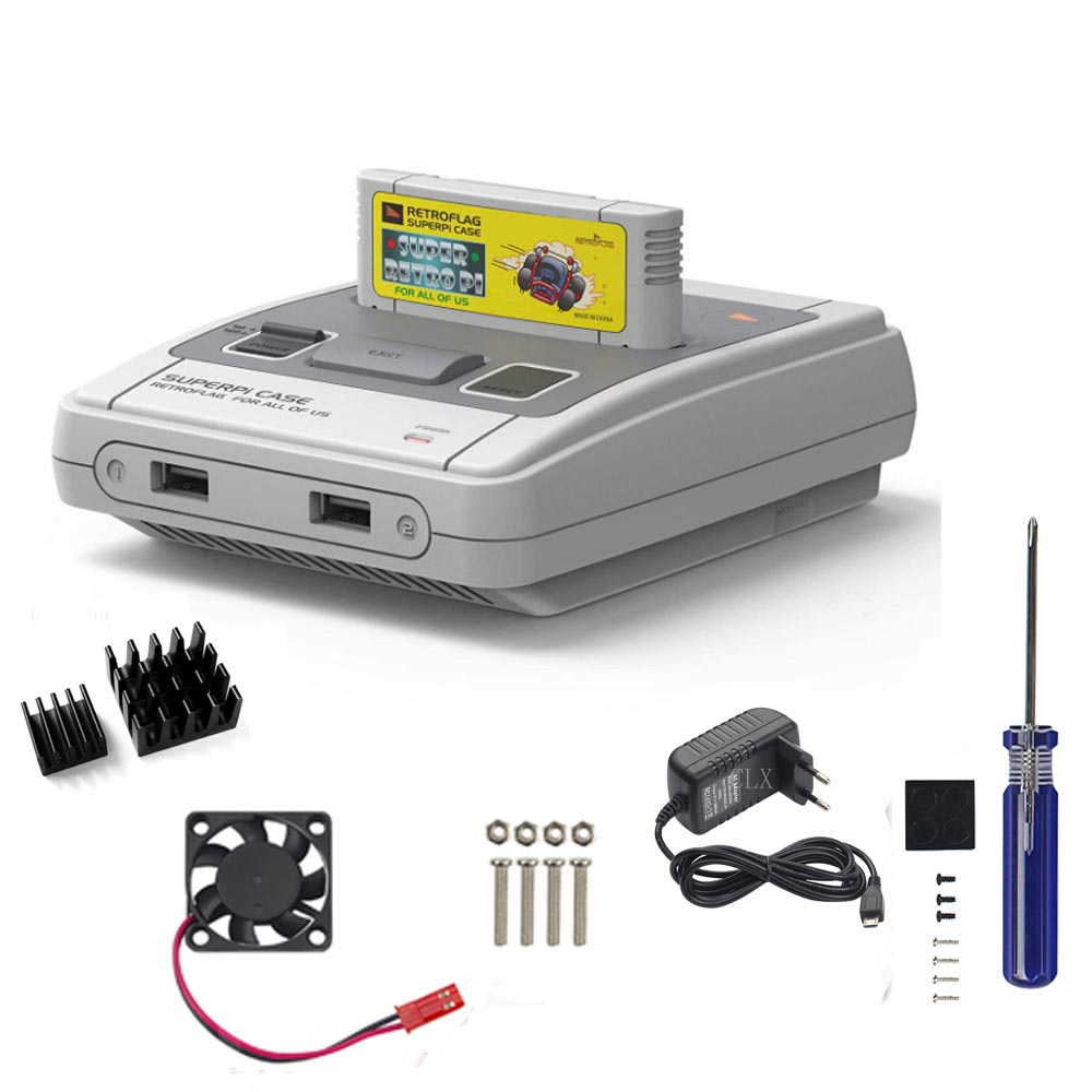 Retroflag SUPERPi CASE-J NESPi Case With Heatsink +5V 3A Power For Raspberry Pi 3B Plus (3B+)/3B  Free Shipping