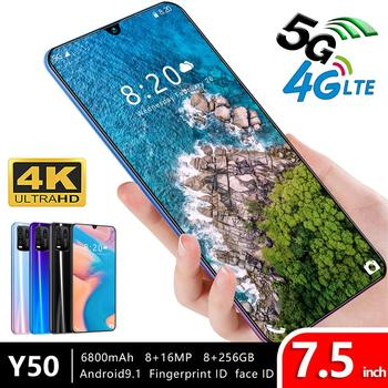 7.5Inch Y50 Free Shipping Snapdragon 855 Smartphone 8GB RAM 256GB ROM Deca Core LTE 4 Camera 6800mah Global Version Cell Phone