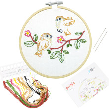 13cm All Range of  Embroidery Kits Handwork Needlework for Beginner Cross Stitch Kits Quilting Embroidery Kits Home Decoration