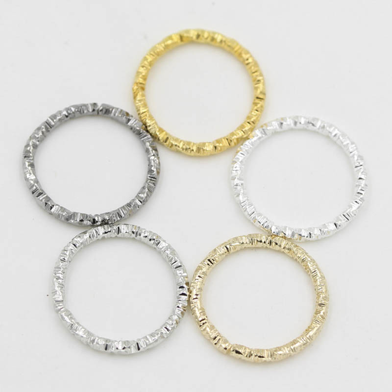 50pcs Silver Gold Color Twisted Open Split Ring 8/10/12/15/18/20mm Jump Rings Connector For Diy Jewelry Makings Finding Supplier