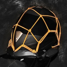 Outdoor Motorcycle Helmet Cargo Net Heavy-duty Anti-slip Night Luminous Luggage Mesh Cover For Cycling Safety Equipment