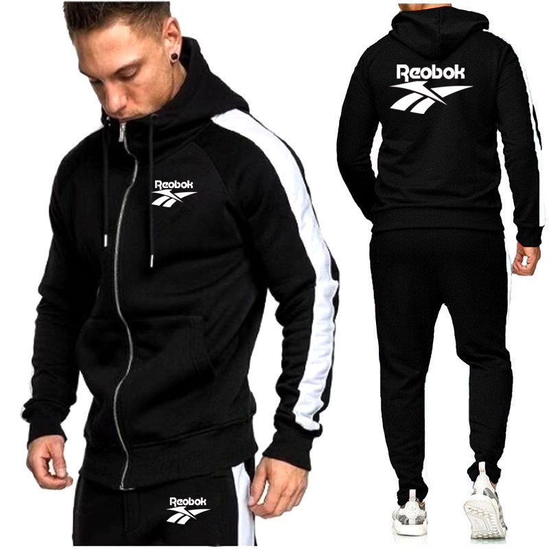 New Men's Sportswear Hoodie Jacket + Sports Pants Casual 2 Piece Set Large Size Sportswear Set Suitable for Spring and Autumn