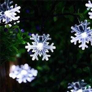Image 3 - 10 M 100 LEDs 220 V คริสต์มาส; snow Flakes LED Garland Fairy แสง Christmas PARTY ตกแต่งสวนงานแต่งงาน Chri