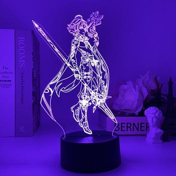 Genshin Impact lampka nocna 3D lampa iluzoryczna Hot Game Light do dekoracja sypialni LED Light atmosfera nocne lampki nocne dla dzieci prezent tanie i dobre opinie CHUBAN Night Light Game character led lights CN (pochodzenie) ROHS Z certyfikatem VDE Acrylic lights Z tworzywa sztucznego