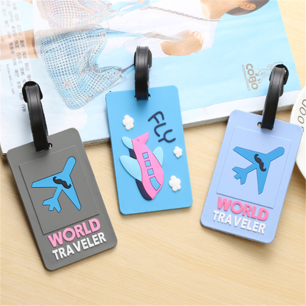 1 PC Luggage Tag Fashion Women Silica Gel Suitcase ID Address Holder Baggage Boarding Tag Portable Label 2019 NEW
