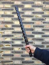 Vara curta da madeira de sândalo da luz vermelha, vara do kung fu da aptidão da mace do chicote das artes marciais