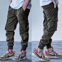 Mens Cargo Pants Elastic Multiple Pocket Military Male Trousers Outdoor Joggers Pant Joggers Trousers Fashion Harajuku Men Pants
