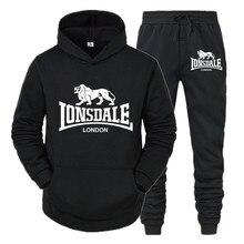 2020 outono inverno moletom venda quente moda lonsdale moletom com capuz masculino quente pulôver casual hip hop hoodie novo conjunto de roupas esportivas masculinas