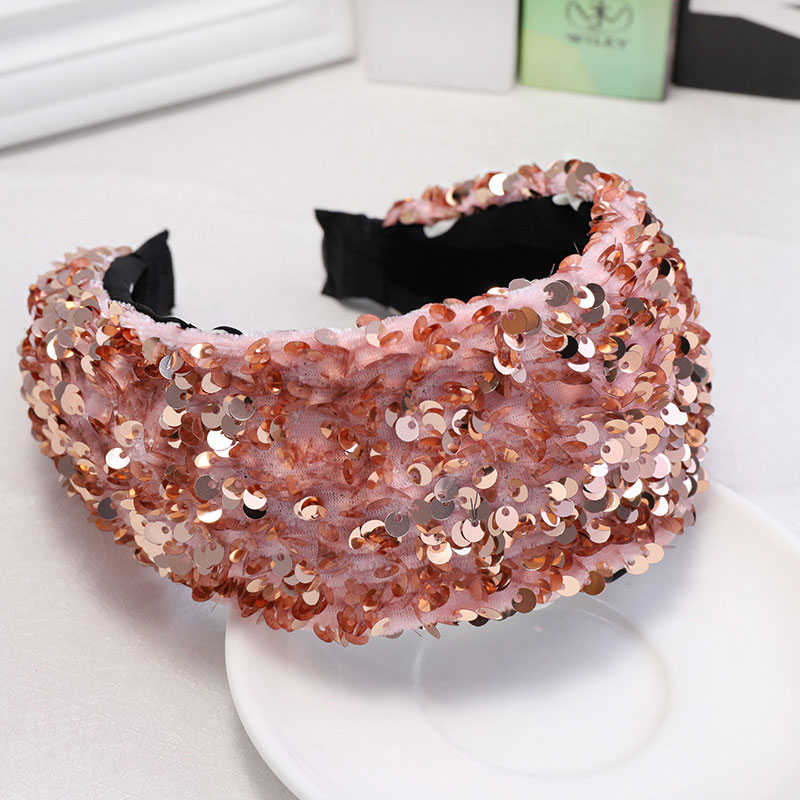 Fioday New Sequins Thick Velvet Headbands For Womens 7cm Wide Hairbands For Girls Bezel Hoops Fashion Hair Accessories Wholesale