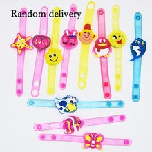 Christmas Decoration LED Glowing Wristband Supplies Cartoon Bracelet Clap Ring Toy Gifts
