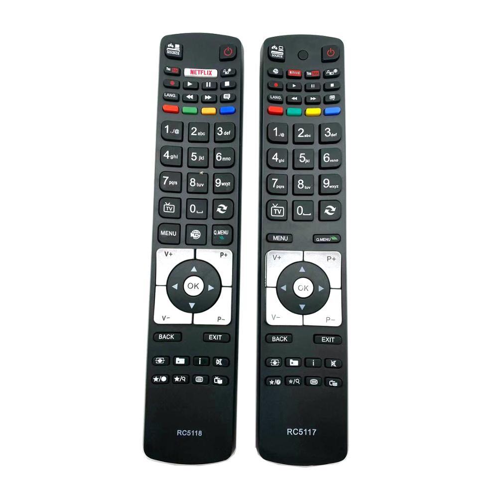 Rc5118 tv controle remoto para led lcd 3d hd operação inteligente finlux 42flhk242bhcdn fin32basebk fin40basebk fin48smartbk
