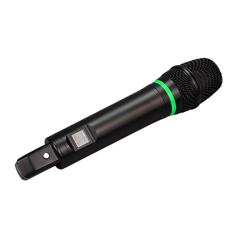UHF с экраном перезаряжаемый Универсальный беспроводной микрофон один тащить компьютер стерео подключи и играй ручной микрофон