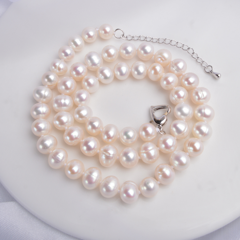 H9a880236bad94ef8a09056a6ca646554M ASHIQI Real Natural Freshwater Pearl choker Necklace 8-9mm White Near Round Pearl Jewelry Gifts for Women