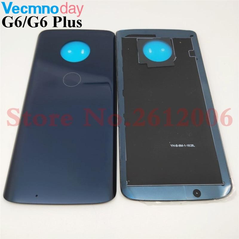 Back Glass Replacement For Motorola Moto G6 XT1925 /G6+ G6 Plus XT1926 Battery Cover Rear Door Housing Case